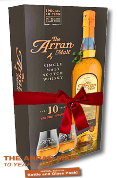 Arran 10 Jahre Bottle+Glass Pack Single Malt Isle of Arran Whisky
