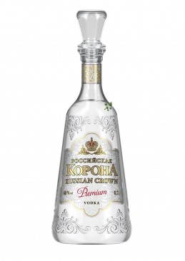 Russian Crown PREMIUM Vodka - in Altrussischer Zaren-Flasche