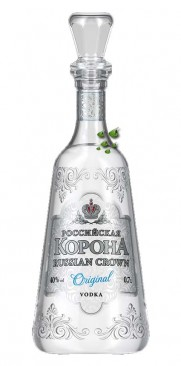 Russian Crown ORIGINAL Vodka - Altrussischer Flasche