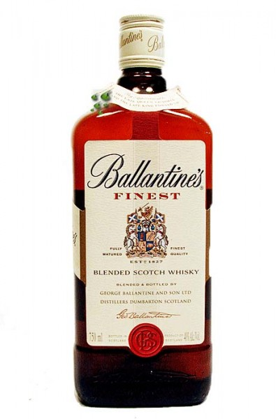 Ballantine's Whisky Finest Scotch Whisky mit Original Whisky Glas