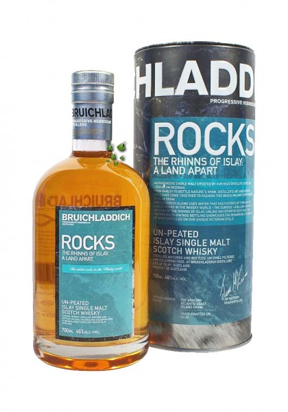 Bruichladdich ROCKS Peated Islay Malt Whisky