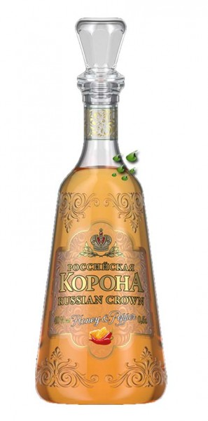 Vodka aus Russland-Rossijskaja Korona Honey & Pepper